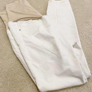 Old Navy Rockstar Maternity White Jeans 12 Short